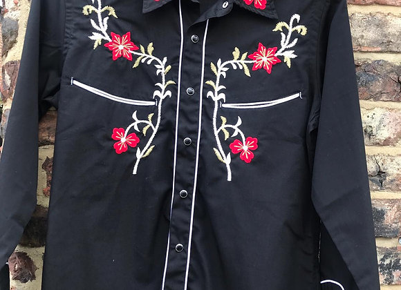 Western Embroidered Long Sleeve Shirt   RE04