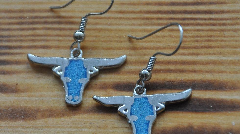 Steer / Bull head earrings