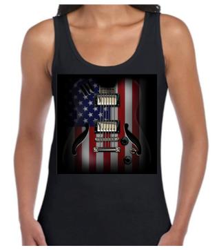 Flag Guitar Ladies vest