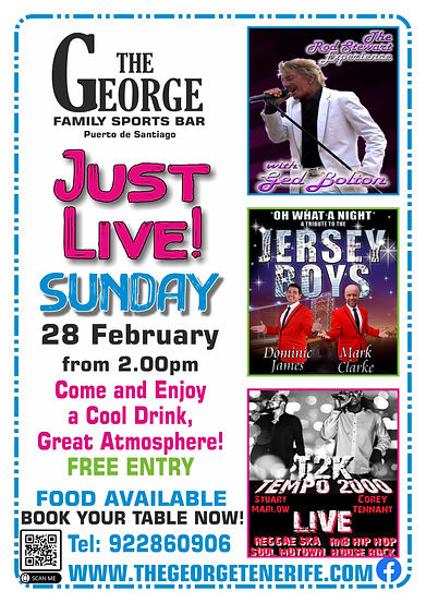 The George Just live Music 3 act poster