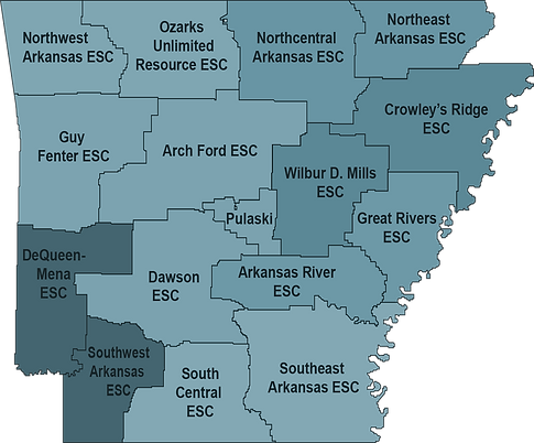 Education Cooperative Map of Arkansas