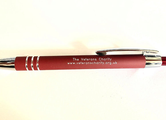 Soft-touch retractable ballpoint with stylus - Maroon