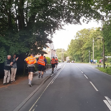 Amazing support throughout the route...