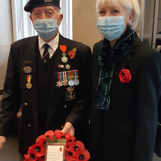WW2 Veteran Stan Ford with his The Veterans Charity w