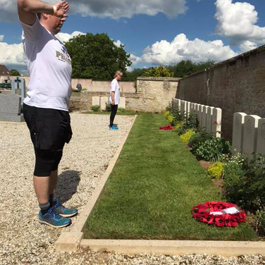 Respects were paid by the group to fallen heroes of the Coup de Main operation