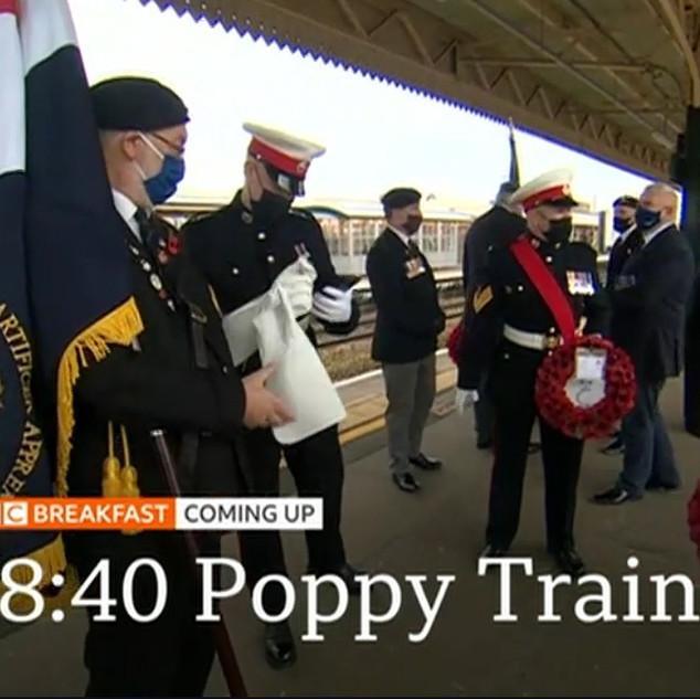 BBC news coverage of Poppies To Paddington