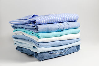 Stack of colorful perfectly folded cloth