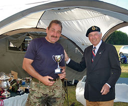 Craig Lewis wins The Ben Parkinson Trophy for overcoming adversity on The Forces March