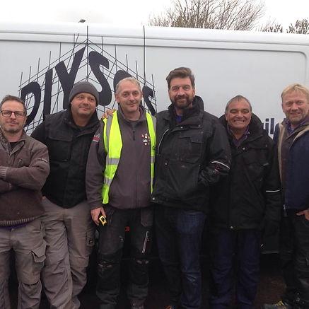 DIY SOS team with Veteran John Borge