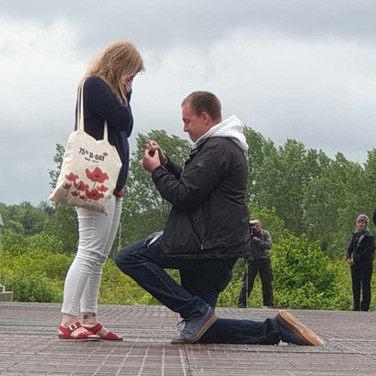 It was an amazing week for Daisy Nolan who got engaged to her boyfriend, Chris Bradshaw on Pegasus Bridge after the run - CONGRATULATIONS!