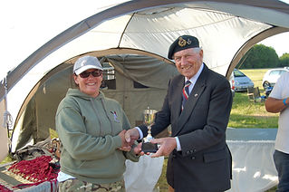 Tracey James wins The Sarah Bryant Trophy on The Forces March in aid of The Veterans Charity