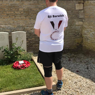 Sgt Geoff Baulk honoured Sgt Pete Barwick on the run and was very fittingly promoted to Sergeant himself during the run!
