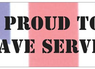 PROUD TO HAVE SERVED Bumper Sticker