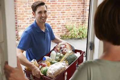 Driver Delivering Online Grocery Shoppin