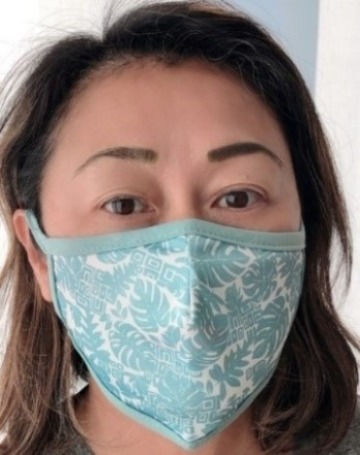 Floral Print Cloth Face Mask