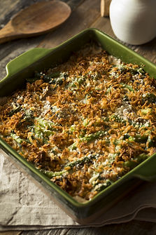 Homemade Green Bean Casserole with Fried