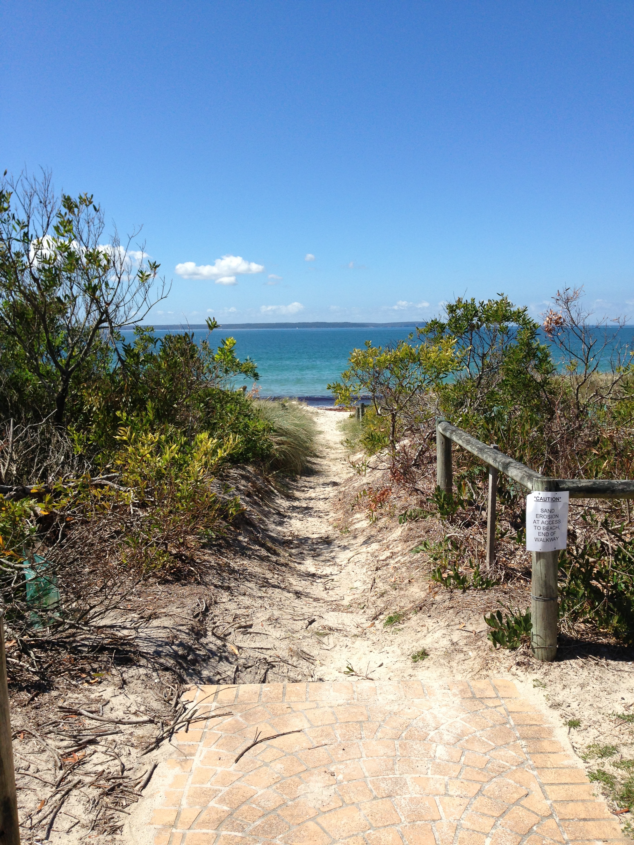 Cycleway leading you to the beach