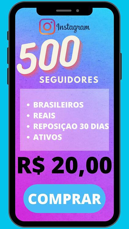 500 SEGUIDORES BRASILEIRO