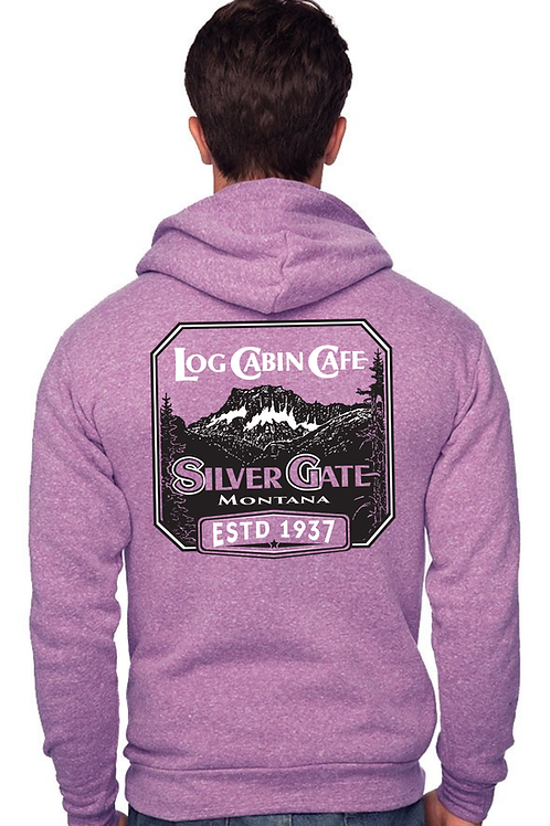 Log Cabin Cafe Sweatshirt - Purple