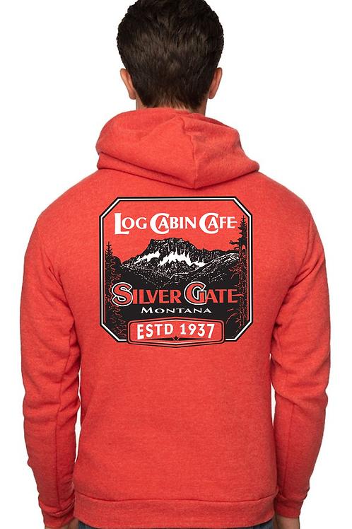 Log Cabin Cafe Sweatshirt - Red
