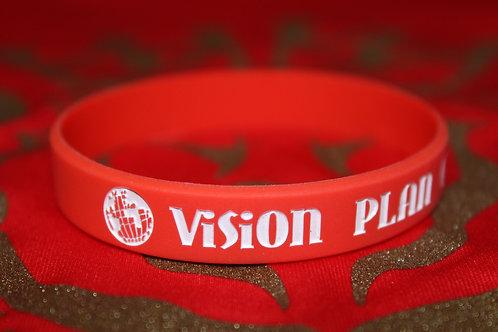Red & White Wristband