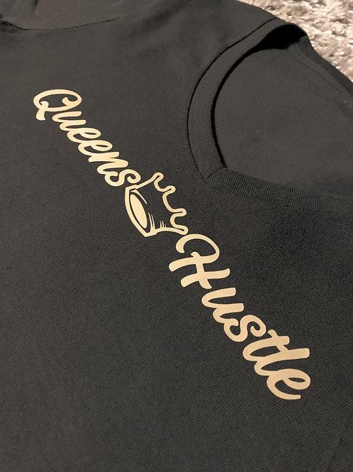 Queens Dreams & Hustle T-shirt (Gold & Black)