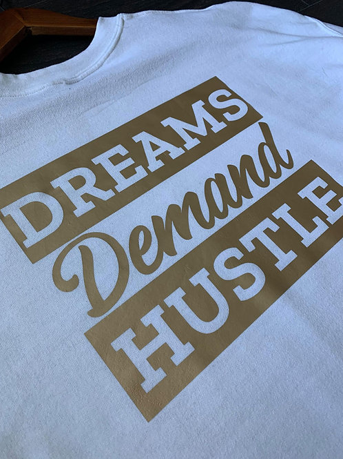 Dreams & Hustle Sweater (Gold & White)