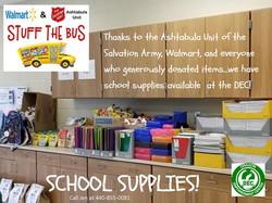 School Supplies at the DEC!