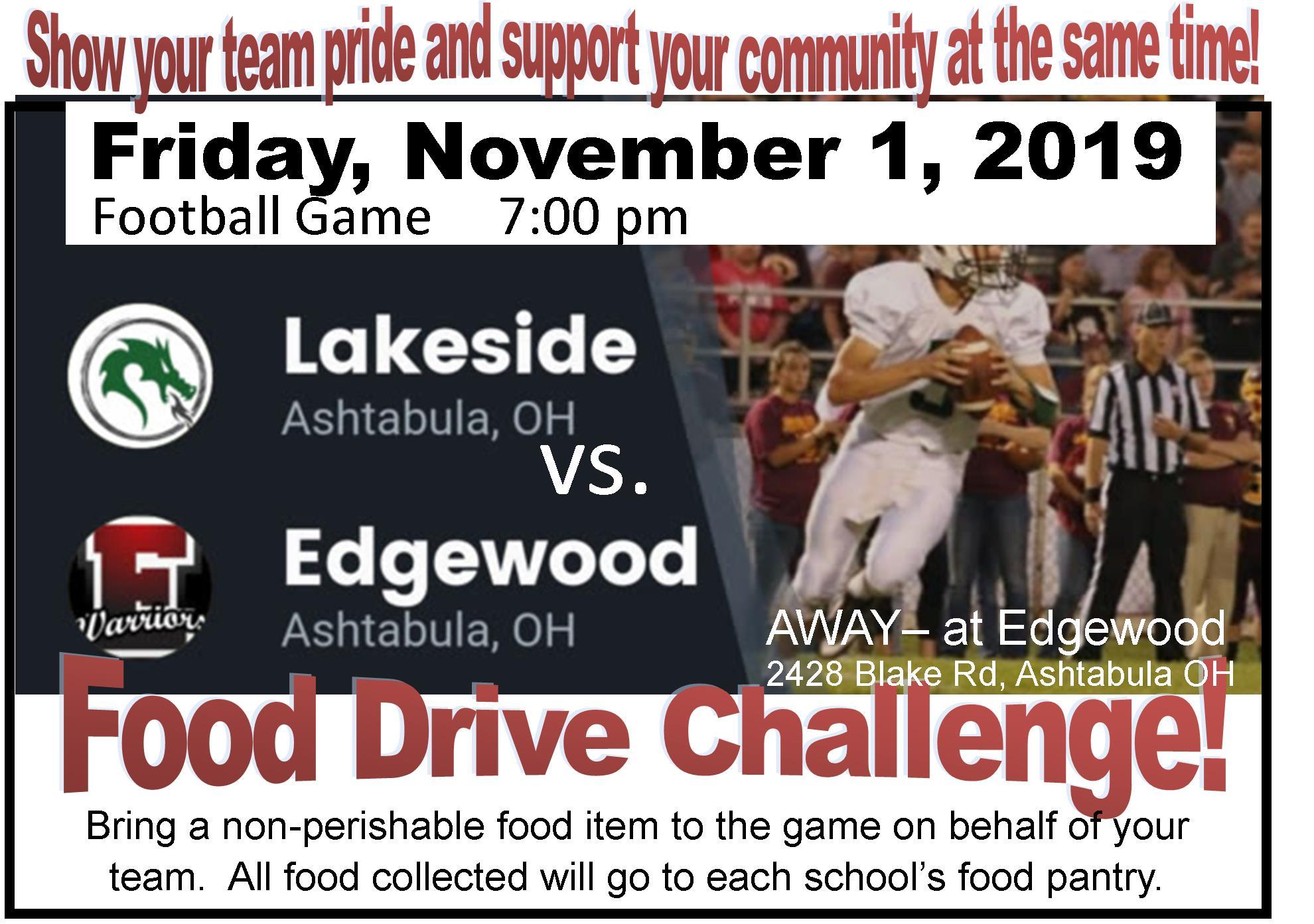 Football Food Drive Challenge!