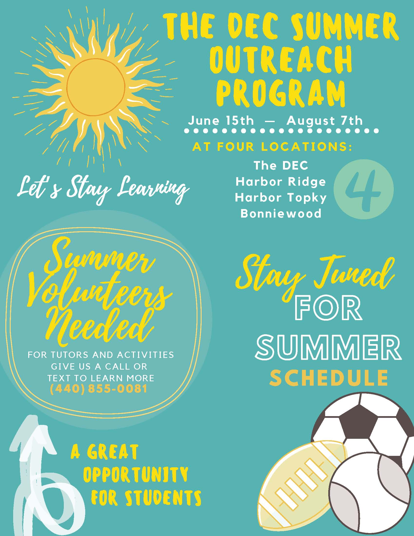DEC Summer Outreach Program