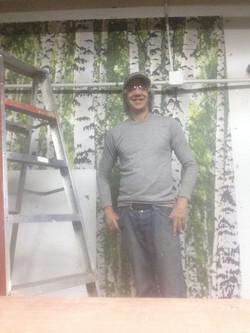 Aspen Square Condos Birch Wallpaper