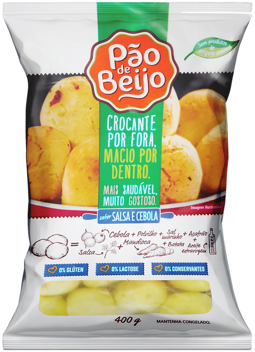 Pão de Beijo sabor salsa e cebola 400g (DISPONÍVEL APENAS P/ SÃO PAULO CAPITAL)