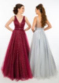 PF9658 Glitter Shimmer Bll Gown Silver