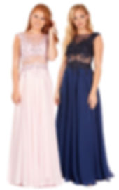 Prom Dress With Pockets Navy Teal Lilac Blush