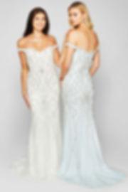 Beaded Bling Sparkle Prom GradBall Gown Paisley