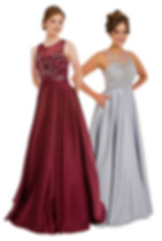 Satin Ball Gown With Pockets Silver Burgundy Boutique