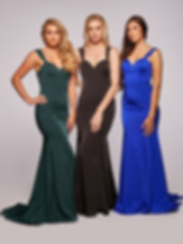 Satin Fitted Prom Dress