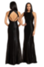 Hayley Paige 5967 Black Dress