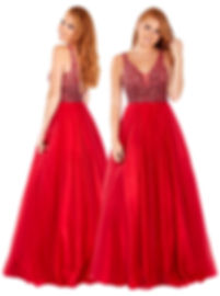 Beaded Ball Gown Princess Dress Red Pink Navy Paisley