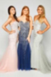 Strapless Bling Beaded Fishtail Dress Pink Prom Navy Silver