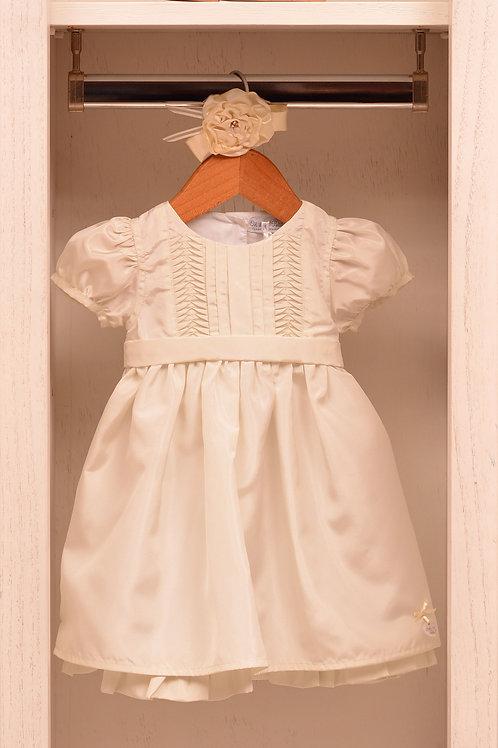Vestido de Tafetán con tablitas