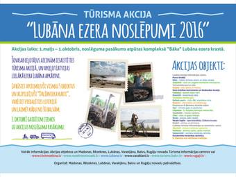 Tūrisma akcija LUBĀNA EZERA NOSLĒPUMI