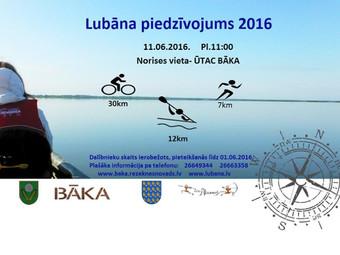 LUBĀNA PIEDZĪVOJUMS 2016