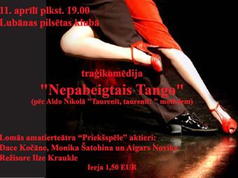 """Lubānas amatierteātra izrāde """"Nepabeigtais tango"""""""