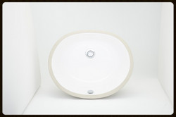 Oval White Porcelain sink
