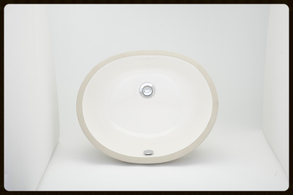 Oval Bisque Porcelain sink