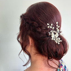 Beautiful updo for a beautiful bride fro