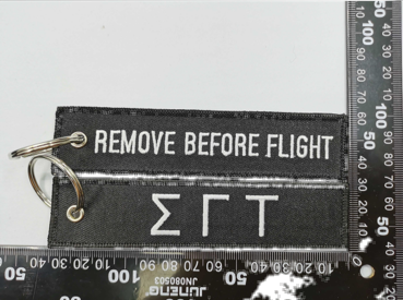 SGT Remove Before Flight Embroidered Tag