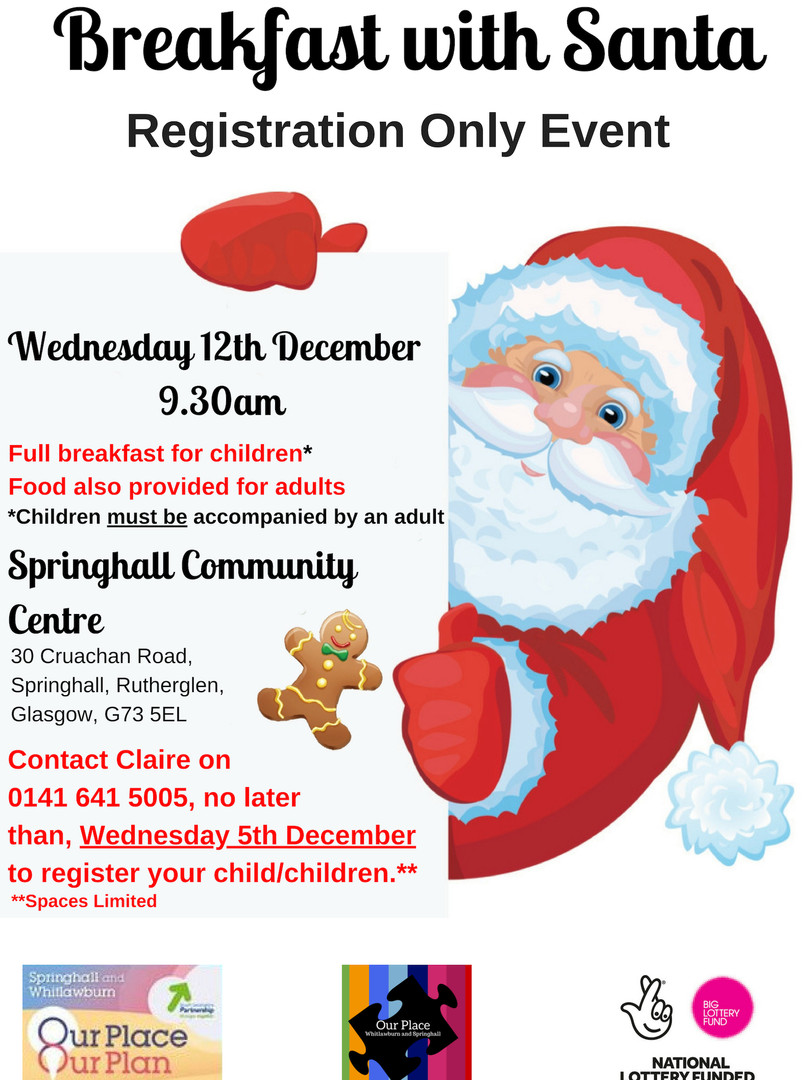 Breakfast with Santa Springhall December 2018