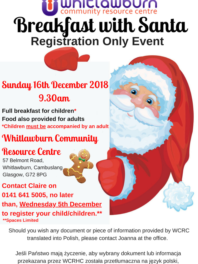 Breakfast with Santa Whitlawburn December 2018